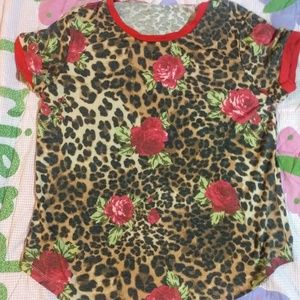 Nwt cheetah/rose